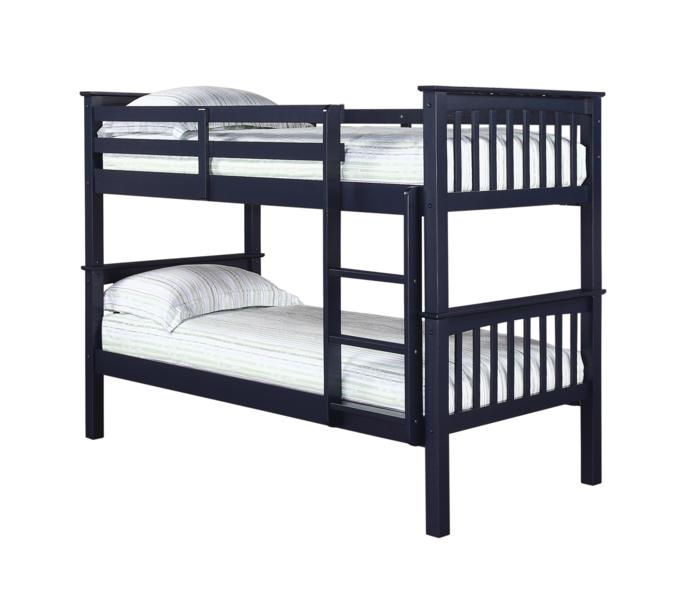 Leo Navy Blue Wooden Bunk Bed